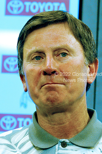 Washington Redskin head coach Steve Spurrier holds a press conference at Texas Stadium in Irving, Texas following his team's 21 - 14 loss to the Dallas Cowboys on November 2, 2003.<br /> Credit: Arnie Sachs / CNP