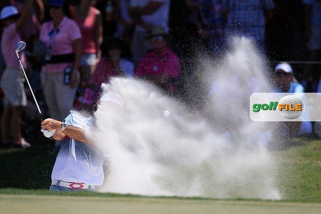 Bubba Watson (USA) on the 9th during the final round of The Players, TPC Sawgrass, Ponte Vedra Beach, Florida, United States. 10/05/2015<br /> Picture Fran Caffrey, www.golffile.ie