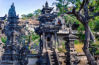 Bali, Buleleng. Northern Bali. Details from the Pura Pelaki temple.