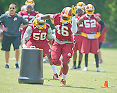 Washington Redskins linebacker Willie Jefferson (46) participates in drills during an organized team activity (OTA) at Redskins Park in Ashburn, Virginia on Wednesday, May 25, 2015.<br /> Credit: Ron Sachs / CNP