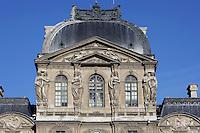 Caryatids, Pavillon Sully (westen façade), built by Jacques Lemercier (1586-1654), ordered by Louis XIII in 1639, Louvre Museum, Paris, France Picture by Manuel Cohen
