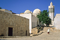 Tunisia, Le Kef.  Boumakhlouf Mosque, 17th. Century; 4th. Century Basilica on Left.