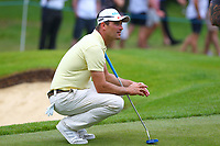 Florian Fritsch on the 4th green during the BMW PGA Golf Championship at Wentworth Golf Course, Wentworth Drive, Virginia Water, England on 27 May 2017. Photo by Steve McCarthy/PRiME Media Images.
