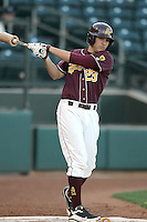 Johnny Ruetigger #23 of the Arizona State Sun Devils plays against Northern Illinois University in the annual Coca-Cola Classic at Surprise Stadium on March 4, 2011 in Surprise, Arizona..Photo by:  Bill Mitchell/Four Seam Images.