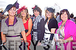 Tralee ladies Karyn Moriarty, Ann O'Dowd, Mary Murray, Bernadette Hanrahan and Mags Brick enjoying  ladies day last Friday afternoon in Listowel.