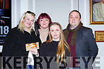 Christine McCarthy, Leanne Twomey, Shannon McCarthy and Eamon Looney at the Killarney Strictly Come Dancing in aid of the Irish Cancer Society in the INEC on Friday night