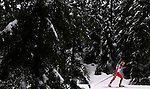 WHISTLER, BC - FEBRUARY 16:  Gerda Krumina of Latvia competes during the Women's 10km Pursuit Biathlon at Whistler Olympic Park   during the Vancouver 2010 Winter Olympics on February 16, 2010 in Whistler, Canada. (Photo by Donald Miralle)