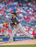 19 September 2015: Miami Marlins pitcher Andre Rienzo on the mound against the Washington Nationals at Nationals Park in Washington, DC. The Marlins fell to the Nationals 5-2 in the third game of their 4-game series. Mandatory Credit: Ed Wolfstein Photo *** RAW (NEF) Image File Available ***