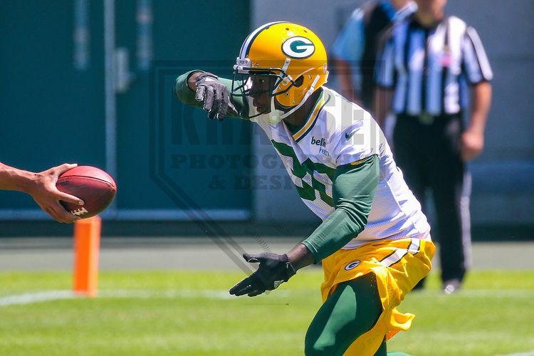 Green Bay Packers running back Jamaal Williams (30) during an OTA on June 6, 2017 at Clarke Hinkle Field in Green Bay, Wisconsin. (Brad Krause/Krause Sports Photography)