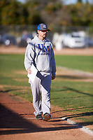 Casey Scott coaches for the Red Sox during the Under Armour Baseball Factory Recruiting Classic at Gene Autry Park on December 30, 2017 in Mesa, Arizona. (Zachary Lucy/Four Seam Images)