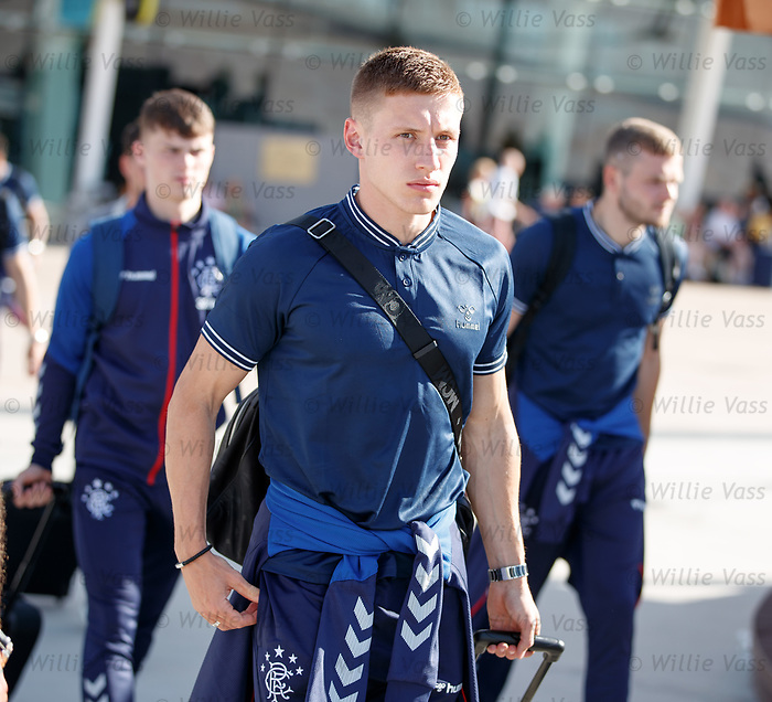 22.06.2019 Rangers arrive in Portugal: Greg Docherty