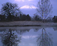 Mt. Fuji Reflection, Fuji-Hazone-Izu National Park, Japan      12,388 foot dormant volcano  Reflected in Tsurga Ponds/Oshino