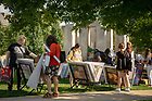August 22, 2018; Poster sale on North Quad (Photo by Matt Cashore/University of Notre Dame)