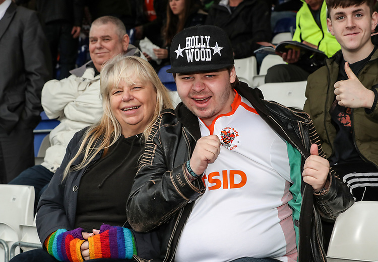 Blackpool supporters pictured before the match<br /> <br /> Photographer Andrew Kearns/CameraSport<br /> <br /> The EFL Sky Bet League Two - Bristol Rovers v Blackpool - Saturday 2nd March 2019 - Memorial Stadium - Bristol<br /> <br /> World Copyright © 2019 CameraSport. All rights reserved. 43 Linden Ave. Countesthorpe. Leicester. England. LE8 5PG - Tel: +44 (0) 116 277 4147 - admin@camerasport.com - www.camerasport.com