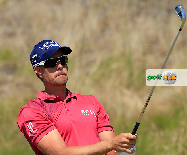 Henrik STENSON (SWE) tees off the 9th tee during Saturday's Round 3 of the 2015 U.S. Open 115th National Championship held at Chambers Bay, Seattle, Washington, USA. 6/20/2015.<br /> Picture: Golffile | Eoin Clarke<br /> <br /> <br /> <br /> <br /> All photo usage must carry mandatory copyright credit (&copy; Golffile | Eoin Clarke)