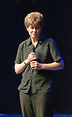 "Sarah Young rehearsing ""You'll Never Walk Alone"".  Special Olympics Surrey put on a show,   ""Beyond the Stars"", at the Rose Theatre, Kingston upon Thames to raise money for the  SOGB team.  The Special Olympics are for athletes with learning disabilities."