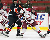 Jack Berger (Princeton - 9), Patrick McNally (Harvard - 8) - The Harvard University Crimson defeated the Princeton University Tigers 3-2 on Friday, January 31, 2014, at the Bright-Landry Hockey Center in Cambridge, Massachusetts.