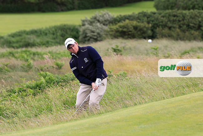 Gary Collins (Rosslare) on the 3rd during the Final round of the North of Ireland Amateur Open Championship at Royal Portrush, Dunluce Course on Friday 17th July 2015.<br /> Picture:  Golffile | Thos Caffrey