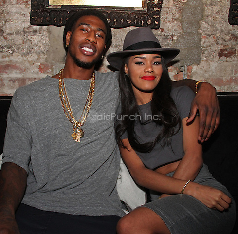 """NEW YORK, NY - OCTOBER 27: Iman Shumpert & Taylor at the """"VII"""" album Listening party at Up & Down, October 27, 2014 in New York City.Credit: Walik Goshorn/MediaPunch"""