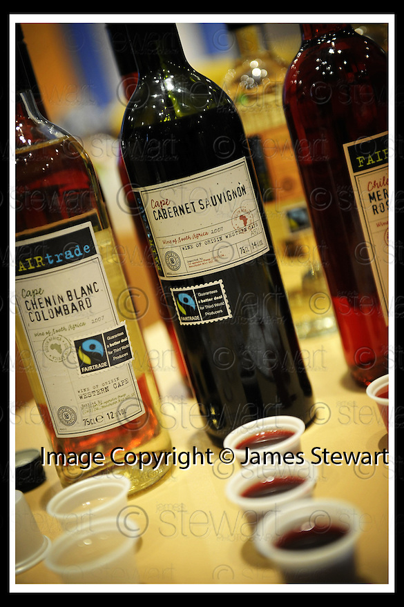 14/03/2008    Copyright Pic: James Stewart.File Name : 14_fair_trade.FAIR TRADE EXHIBITION :: LESSER TOWN HALL :: 13TH MARCH 2008.SOME OF THE CO-OP FAIR TRADE WINE RANGE....James Stewart Photo Agency 19 Carronlea Drive, Falkirk. FK2 8DN      Vat Reg No. 607 6932 25.Studio      : +44 (0)1324 611191 .Mobile      : +44 (0)7721 416997.E-mail  :  jim@jspa.co.uk.If you require further information then contact Jim Stewart on any of the numbers above........