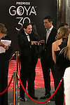 Pablo Iglesias and Pedro Sanchez attend 30th Goya Awards red carpet in Madrid, Spain. February 06, 2016. (ALTERPHOTOS/Victor Blanco)