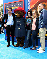 6 January 2018 - Los Angeles, California - Hugh Grant, Paddington, Sue Kroll, President, Worldwide Marketing and Distribution, Warner Bros. Pictures, Blair Rich, President, Worldwide Marketing, Warner Bros. Pictures, Toby Emmerich, President and Chief Content Officer, Warner Bros. Pictures Group. &ldquo;Paddington 2&rdquo; L.A. Premiere held at the Regency Village Theatre.  <br /> CAP/ADM<br /> &copy;ADM/Capital Pictures