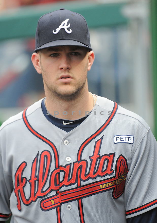 Atlanta Braves Alex Wood (40) during a game against the Washington Nationals on September 10, 2014 at Nationals Park in Washington DC. The Braves beat the Nationals 6-2.