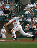 August 21, 2003:  Michael Restovich of the Red Wings, Class-AAA affiliate of the Minnesota Twins, during a International League game at Frontier Field in Rochester, NY.  Photo by:  Mike Janes/Four Seam Images