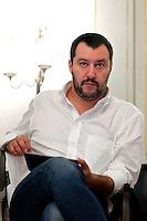 Matteo Salvini <br /> Roma 24-09-2015 Incontro 'Per l'Italia - Ricostruiamo il centrodestra'.<br /> Photo Samantha Zucchi Insidefoto