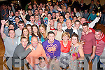 KEY OF THE DOOR: David Mannix, Caherslee, Tralee (front centre) had a cracking time celebrating his 21st birthday last Saturday night in Austin Stacks GAA clubhouse, Connelly Pk, Tralee with many friends and family.
