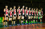 Japan team group line-up (JPN),<br /> AUGUST 8, 2016 - Volleyball : <br /> Women's Preliminary Pool A <br /> between Japan 3-0 Cameroon <br /> at Maracanazinho <br /> during the Rio 2016 Olympic Games in Rio de Janeiro, Brazil.<br /> (Photo by Enrico Calderoni/AFLO SPORT)