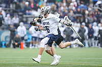 Washington, DC - February 23, 2019: Georgetown Hoyas Lucas Wittenberg (6) is being by a Towson Tigers defender during game between Towson and Georgetown at  Cooper Field in Washington, DC.   (Photo by Elliott Brown/Media Images International)