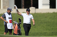 Sam Horsfield (ENG) on the 14th green during the final round of the DP World Tour Championship, Jumeirah Golf Estates, Dubai, United Arab Emirates. 18/11/2018<br /> Picture: Golffile | Fran Caffrey<br /> <br /> <br /> All photo usage must carry mandatory copyright credit (© Golffile | Fran Caffrey)