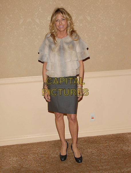 TRACEY ROSS.The Project Angel Food's Annual Divine Design Gala Awards Dinner held at The Beverly Hilton Hotel in Beverly Hills, California, USA. .November 29th, 2007.full length grey gray skirt tracy white cream beige fur top jacket coat layers layered .CAP/DVS.©Debbie VanStory/Capital Pictures
