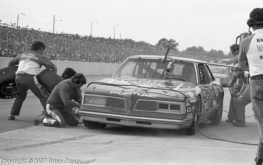 Atlanta Journal 500 at Atlanta International Raceway in Hampton, GA on November 6, 1983. (Photo by Brian Cleary/www.bcpix.com)