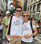 Empire The Series, the Internet's Hottest Soap Opera Returns This Summer 2012 for its 4th season - Sex.Scandal.Soap. - As The World Turns' cast members Yvonne Perry with her daughter Josie and Lauren B. Martin, Fritz Brekeller and cast members of Empire The Series march in the NYC Gay Pride Parade 2012 on June 24, 2012 marches from Fifth Avenue and 38 to the Village, New York City, New York. Ceck them out at Empiretheseries.com (Photo by Sue Coflin/Max Photos)