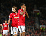 Marcus Rashford of Manchester United bows a kiss as he celebrates his second goal during the Carabao Cup Third Round match at the Old Trafford Stadium, Manchester. Picture date 20th September 2017. Picture credit should read: Simon Bellis/Sportimage
