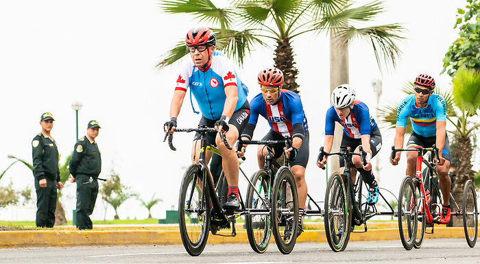 Lima, Peru -  1/September/2019 -   Michael Shetler competes in the cycling road race at the Parapan Am Games in Lima, Peru. Photo: Dave Holland/Canadian Paralympic Committee.