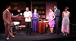 Erin Cherry (Yolande Du Bois), André De Shields (W.E.B. Du Bois), Gillian Glasco (Lenora), Morocco Omari (Jimmy Lunceford), Sean Phillips (Countee Cullen), and Marie Thomas (Nina Du Bois) in Charles Smith's Knock Me a Kiss, directed by Chuck Smith, presented by Woodie King Jr's New Federal Theatre's season at Henry Street Settlement's Abrons Arts Center/Recital Hall (466 Grand Street) in New York, 11/11/-12/5. © Lia Chang