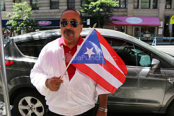 NEW YORK, NY - JUNE 12: Willie Colon at The Puerto Rican Day Parade in New York City on June 12, 2016. Photo Credit: Walik Goshorn/Media Punch