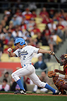 February 28 2010: Niko Gallego of UCLA during game against USC at Dodger Stadium in Los Angeles,CA.  Photo by Larry Goren/Four Seam Images
