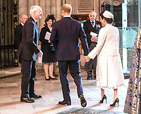 11 March 2019 - London, England - Prince Harry Duke of Sussex and Meghan Markle Duchess of Sussex during a Commonwealth Day Service held at Westminster Abbey. Photo Credit: ALPR/AdMedia