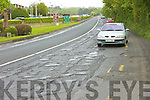POTHOLES: Cars swerve to avoid the potholes on the N69 road out of Listowel.