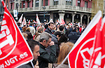 Oscar Puente, consellor of PSOE, during the demonstration on 1st May, Workers International Day. People march according to the call of the main Spanish work unions, UGT, CCOO and CGT. May 1, 2013 (Alterphotos/Victor Blanco)