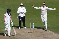 Simon Harmer in bowling action for Essex during Warwickshire CCC vs Essex CCC, Specsavers County Championship Division 1 Cricket at Edgbaston Stadium on 11th September 2019