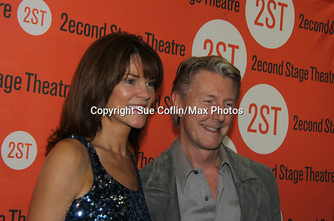 Carolyn McCormick and her husband Byron Jennings at the Off-Broadway Opening night of Second Stage Theatre's production of Wings on October 24, 2010 in New York City, NY with the after party at HB Burger. (Photo by Sue Coflin/Max Photos)