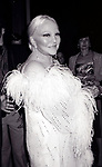 Peggy Lee attends the Friars Club honored Cary Grant as their Man of the Year on May 16, 1982 at the Waldorf Astoria in New York City.