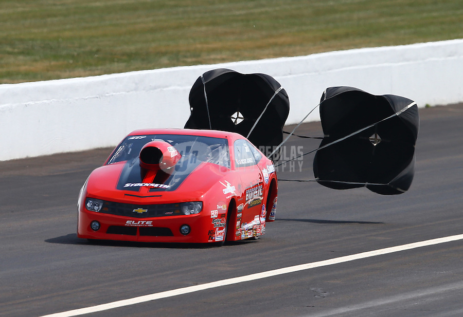 Aug. 31, 2013; Clermont, IN, USA: NHRA pro stock driver Rickie Jones during qualifying for the US Nationals at Lucas Oil Raceway. Mandatory Credit: Mark J. Rebilas-