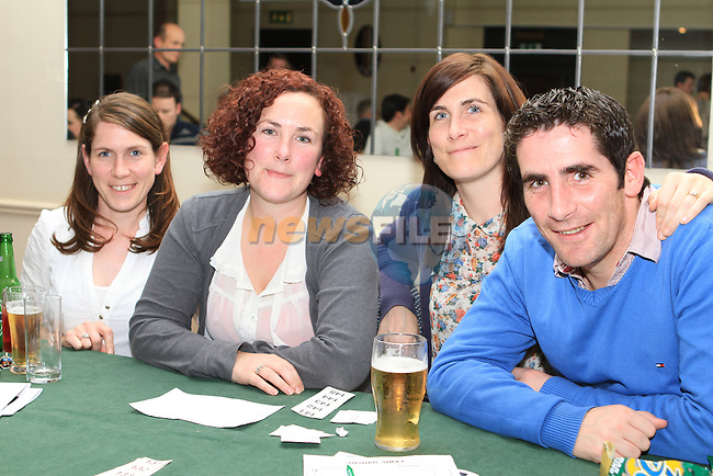 Eilish, Olive and Joey Joyce with Claire Smith at the Table Quiz in the Boyne Valley Hotel in aid of the Niall Mellon Township Trust...(Photo credit should read Jenny Matthews www.newsfile.ie)....This Picture has been sent you under the conditions enclosed by:.Newsfile Ltd..The Studio,.Millmount Abbey,.Drogheda,.Co Meath..Ireland..Tel: +353(0)41-9871240.Fax: +353(0)41-9871260.GSM: +353(0)86-2500958.email: pictures@newsfile.ie.www.newsfile.ie.
