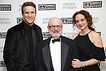 Claybourne Elder, Henry Aronson and Melissa Errico attends the Gingold Theatrical Group's Golden Shamrock Gala at 3 West Club on March 16, 2019 in New York City.